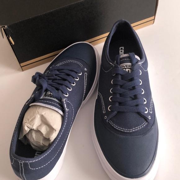 0d67894cfbf6 Converse Skateboard Shoes Crimson canvas OX navy